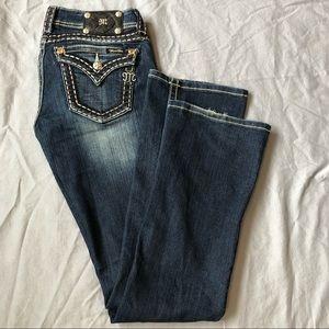 Miss Me bootcut ombré stitch rhinestone jeans
